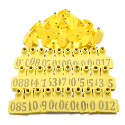100X Livestock Number AnimalsGoat Pig Sheep Use Ear Tag Tags Applicator Labelsm