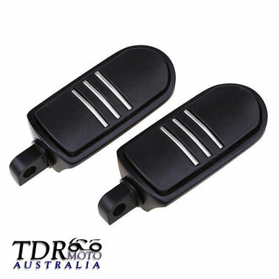 Aluminum Footpegs Foot Peg For Harley Softail Dyna Electra Glide Sportster Black
