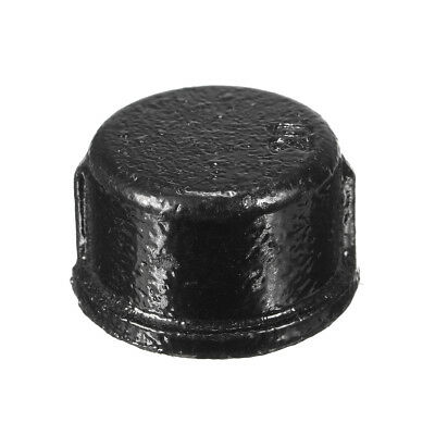 3/4'' Black BSP Malleable Iron Cap Threaded Plumbing Pipe Fittings Replacement m