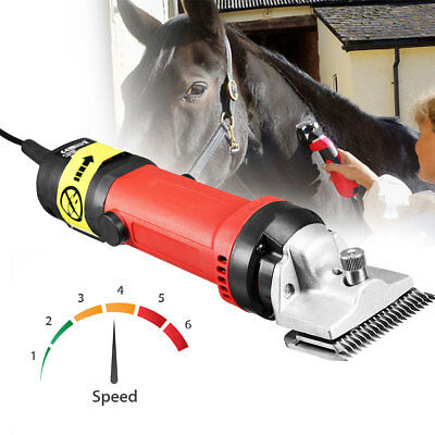 350W Electric Horse Hair Clipper Equine Animals Shearing Trimmer Grooming Kit AU