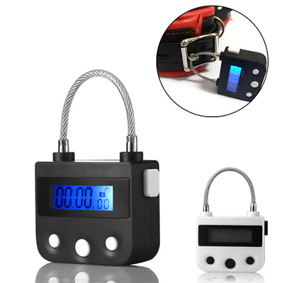 Bondage Time Lock For Ankle Handcuffs Mouth Gag Electronic Timer Chastity Device