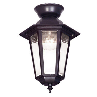 NEW Mercator Tilbury DIY Cast Aluminium Outdoor Coach Ceiling Light - MX4071BLK