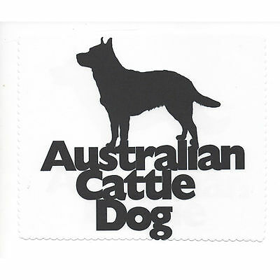 Australian Cattle Dog Silhouette Glasses cleaning cloth Sunglasses Single sided