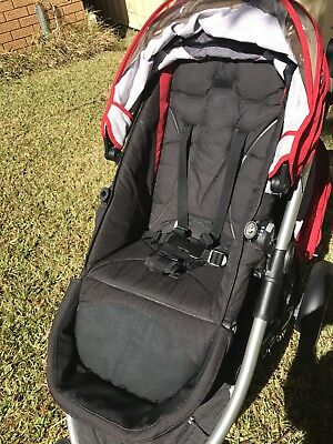 Black/Red TOP SEAT Fabric Steelcraft Strider COMPACT OR PLUS Pram