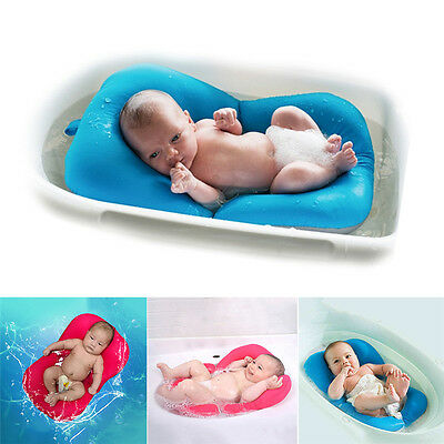 Baby Bath Tub Pillow Pad Lounger Air Cushion Floating Soft Seat Infant Newborn