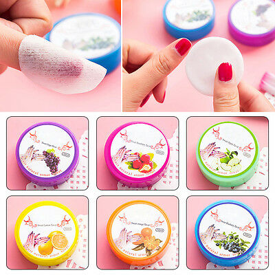 New Cosmetic Oil Nail Polish Remover Towel Fruit Flavored Wash Cotton Nail Tools
