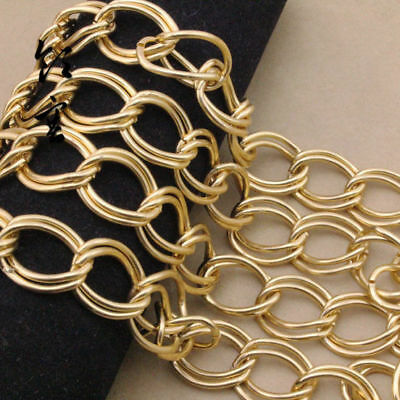 2mm Thick Clothes Jewellery Making Chains DIY Double Ring Luggage Bags Chains 1m