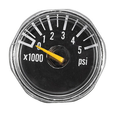 Paintball Alloy Micro Gauge 1'' 5000 psi High Pressure for HPA CO2 Tank PCP AU