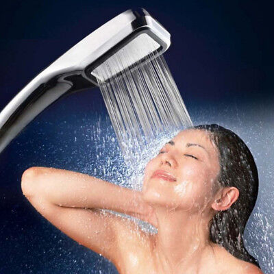 300 Holes High Pressure Shower Head Powerfull Boosting Spray Bath Water Saving