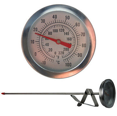 Soap Or Candle Making Thermometer For Wax Melting 300Mm Probe & Jug Clip In-096