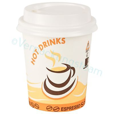 "Kaffeebecher Motiv ""Hot Drinks"" 0,2l  200 ml 280 ml mit Trinkdeckel"