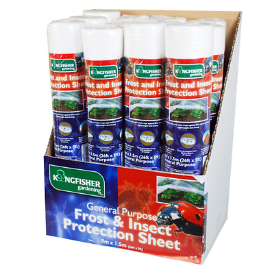 Frost Insect Protection Sheet Plant Warming Garden Fleece 8mx 1.5m NEW