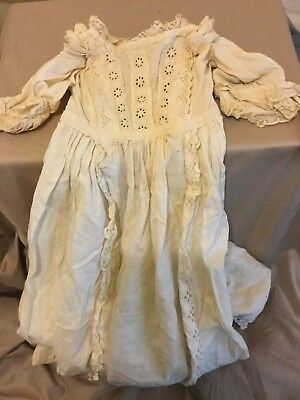 Vintage/Antique Handmade Long Cotton Baby Frock