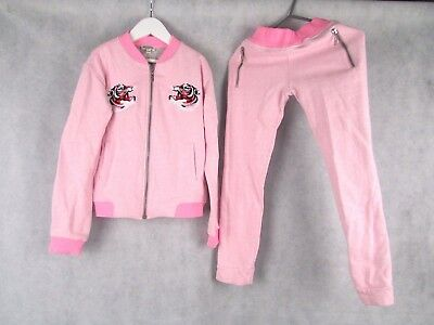 Kenzo Girls Age 10 Pink Graphic Tracksuit And T Shirt Outfit Authentic