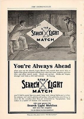 5 Full Page 1903-1904 Search Light Match Matches Ads