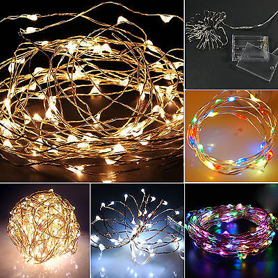 2-4 M Battery Powered Copper Wire String Fairy Xmas Party Lights Warm White Deco