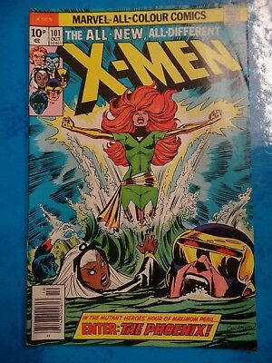 HIGHLY COLLECTIBLE X-MEN (1ST OF THE PHOENIX) #101 Oct 1976 Bagged Marvel Comic