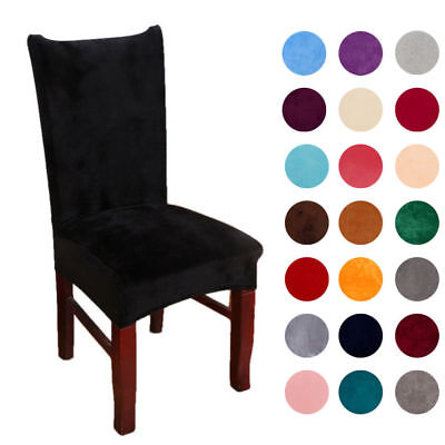 Soft Stretch Spandex Dining Room Wedding Banquet Chair Seat Cover Party Decor