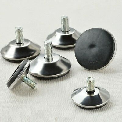 1pcs Metal Round Furniture Leveling Glide Feet Legs Pads Adjustable Threaded
