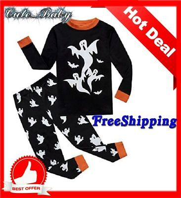 *BIG SALE*Pajamas Halloween Boy Clothes New Toddler Sets Toddlers Kids Sleepwear