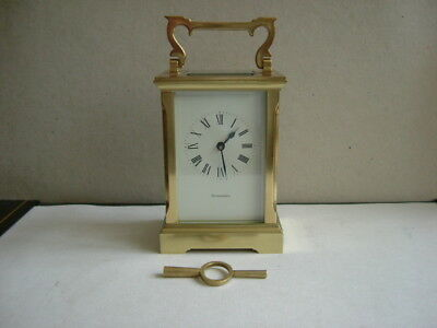 Vintage 8 day Wind Alexanders Brass Carriage Clock.