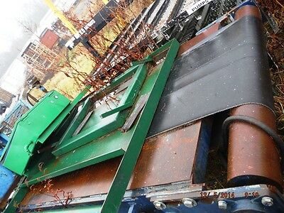 "30"" Slider Bed Belt Conveyor With Legs 1  1/2 Hp Center Drive 48' Long"