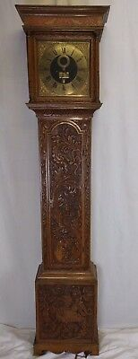 Brass Faced Grandfather Clock Maker John Kay Spilsby Circa 1750