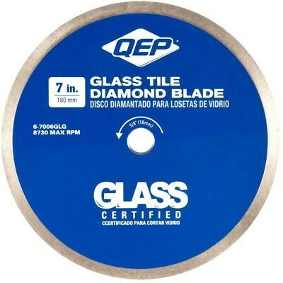 QEP 7In Glass Tile Diamond Blade Wet Tile Saws Cutting Edge Saw Steel Blades