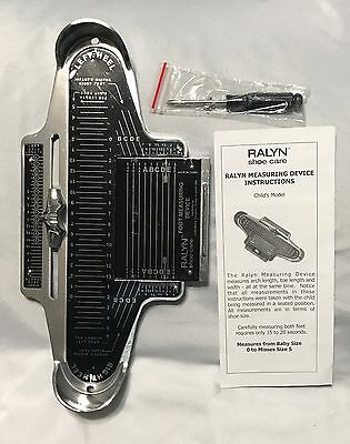 Ralyn Brannock Foot Measuring Device-Childrens- New
