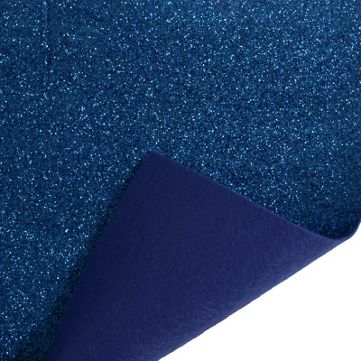 Royal Blue Trimits Glitter Felt A4 Sheet 23cm x 30cm Christmas Crafts