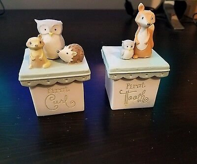 First Curl and First Tooth Ceramic Boxes for Baby