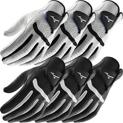 **Pack of 3** Mizuno 2018 All Weather Comp Mens Golf Gloves - Left Hand