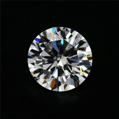 2 x LAB CREATED ROUND HEARTS & ARROW DIAMOND 10MM FAST & FREE DELIVERY