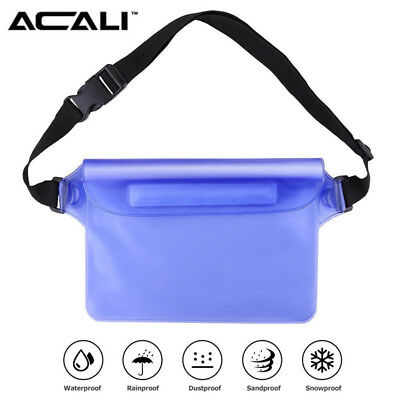 ACALI Waterproof Underwater Pouch Dry Bag With Waist Strap For Boating Swimming