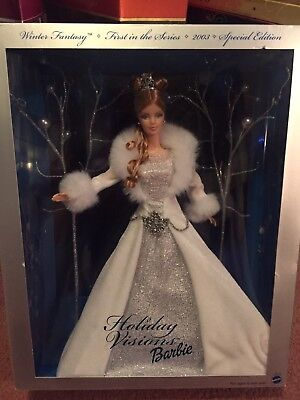 special edition 2003 holiday visions barbie collectible doll in original box