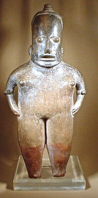 Pre-Columbian Tall Pihuamo Figure Jalisco  Ex Sotheby '78