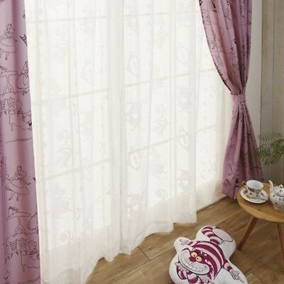 NEW Disney Japan Alice in Wonderland Lace Curtain 2Set from Japan F/S
