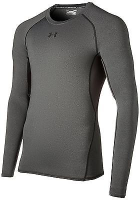 Under Armour Men's HeatGear Long Sleeve Compression Shirt, Carbon Heather...