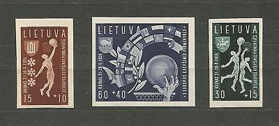 Lithuania Litauen 1939 MNH Mi 429-431 Sc B52-54 Basketball Champ imperforated is