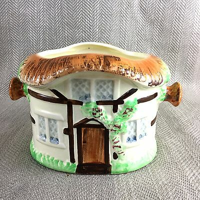 Vintage Cottage Ware Caddy Ice Bucket Planter Plant Pot Cookie Jar Hand Painted