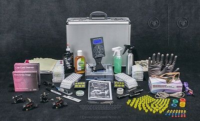 PRO Tattoo Kit Set FULL  Power supply professional supplies USA INK MACHINES