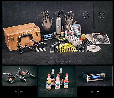 UK Tattoo Kit Sets full pro Power supply professional supplies USA INK MACHINES