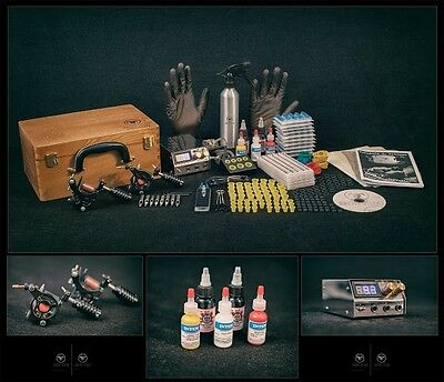 UK Tattoo Kit Sets full SAFE Power supply professional USA INK MACHINES Guns Pro