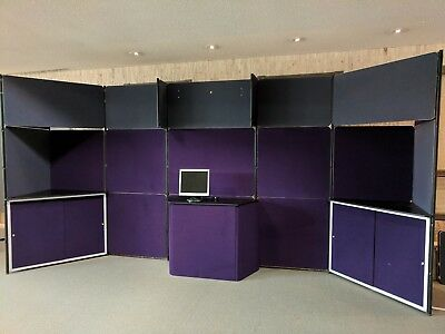 Stackable Modular Trade Show Display Booth - Very Good to Excellent Condition