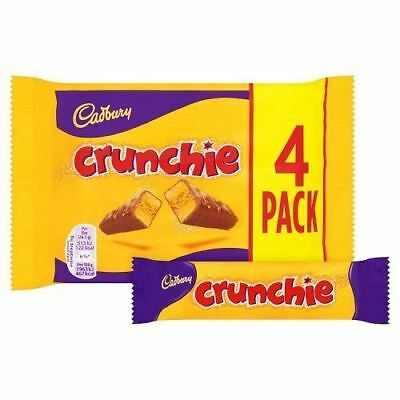 Cadbury Crunchie (4 x 26.1g Chocolate Bars) 104.4g