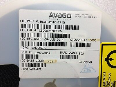 Hsms-2810-Tr1G Avago Diode Schottky Gp Ln 20V Sot-23 Rohs 3000 Reel