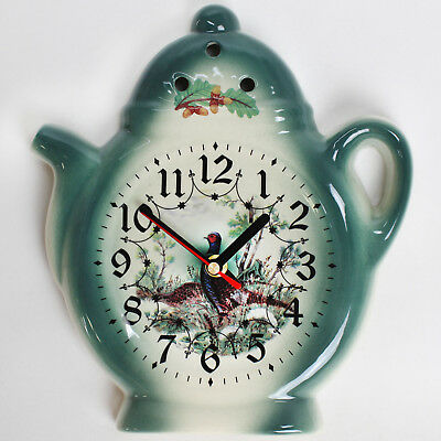 Wall clock for the kitchen Ceramic Watch in Country house style with Wild motif
