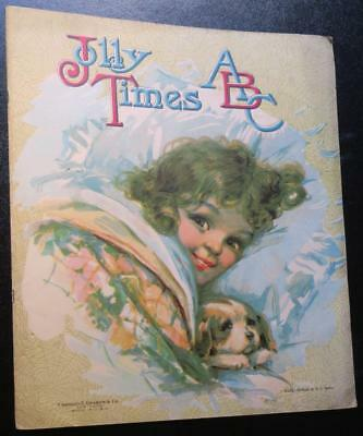 Century-old Jolly Times ABC alphabet book for children,large color illustrations