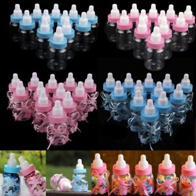 24X Baby Shower Fillable Bottles Candy Gift Box Baptism Party Favour Christening