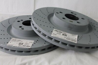 Genuine Mercedes-Benz W204 C-Class C63 AMG FRONT Brake Discs A0004212012 X2 NEW